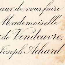 Henriette Le Forestier De Vendeuvre Achard De La Vente 1883