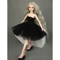 Fashion Clothes Tube Top Dress Wedding Gown for 1/4 BJD Doll Accessory Black