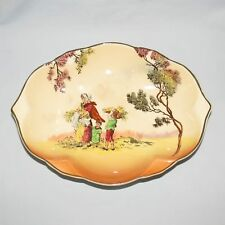 ROYAL DOULTON OLD ENGLISH SCENES THE GLEANERS POINTED OVAL TRAY d6123