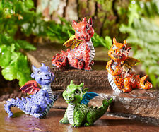 FAIRY GARDEN Miniature ~ Colorful Baby Dragons – Set of 4 ~ Mini Dollhouse