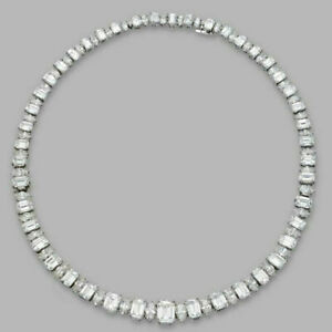 Emerald Marquise Wedding Tennis Necklace Bridal Jewel Solid 925 Sterling Silver
