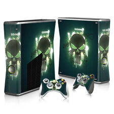 Xbox 360 Slim - Skull - Sticker Set Protective Skin Console & Controllers - 0126