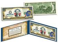 NEW YORK $2 Statehood NY State Two-Dollar US Bill *Genuine Legal Tender* w/Folio