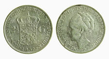 pci3769) Netherlands  Wilhelmina - 2 1/2  Gulden 1932  Silver