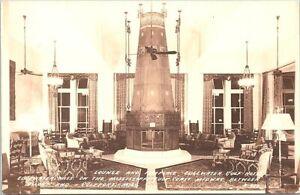 RPPC Gulfport MS Edgewater Gulf Hotel Lounge Scene 1940s
