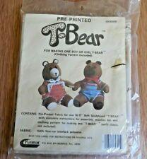 "NEW Raymar ""Pre-Printed T-Bear"" Fabric for 16-17"" Soft Sculptured Teddy Bear"