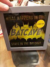 Hallmark Dc Comics Batman Batcave Framed Light-Up Quote Sign