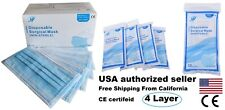 50 PCS 4 Ply Disposable Medical Surgical Mask 4 layer BFE≥ 98% Level 3 4ply CE ✅
