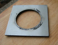 """cast 4x4"""" metal  lens board panel for copal 3 with 64mm  hole"""