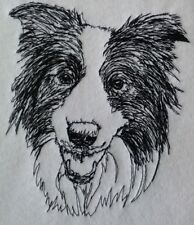 Completed Embroidery Border Collie Dog 1