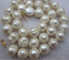 new CHARMING SOUTH SEA BAROQUE 10-11MM 18 INCH WHITE PEARL NECKLACE