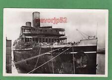 More details for ss l'atlantique paquebot after fire (a) cherbourg 1933 rp pc unused ref m39
