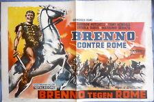 BRENNUS ENEMY OF ROME Belgian Movie Poster Gordon Mitchell Gladiators
