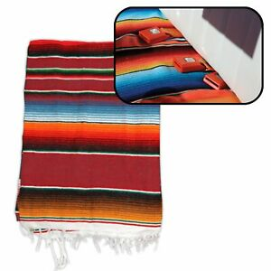 Hot Rod Interior Kit - Red Authentic Mexican Indian Blanket custom