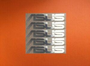 5 pcs ASUS Skylake Silver Chrome Color Sticker Logo Decal Badge 45mm x 8mm