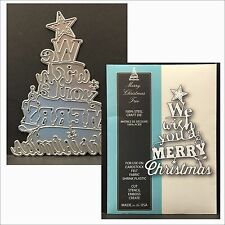 Memory Box dies - MERRY CHRISTMAS TREE single die 99298 Holidays,words,phrases