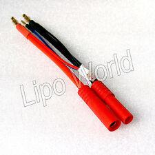 4mm conector banana en conector HXT estuche duro adaptador 2s cable cargador batería LiPo