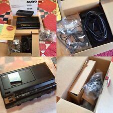 Sanyo Trc-8080 Memo Scriber Cassette Dictation Transcriber W/Pedal,*Looks Unused
