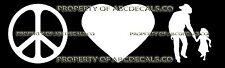 PEACE LOVE COWBOY AND DAUGHTER DANCING Vinyl Sticker Car Bumper Window Decal