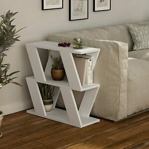 Modern Side Sofa Couch Small End Table Rustic Coffee Narrow Slim Furniture New
