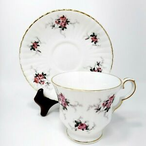Footed Cup & Saucer Set Windsor Rose by PRINCESS HOUSE Made in England