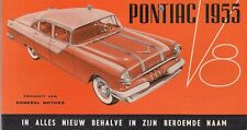 Pontiac V8 1955 Dutch Market Foldout Sales Brochure Sedan Coupe Convertible