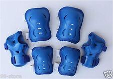 2 set Roller Blading Wrist Elbow Knee Pads Blades Guard  L size IN BLUE