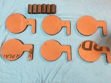 """AR500 Steel Target Dueling Tree DIY Kit 6pcs 6"""" x 3/8"""" Pads With Tubes! USA MADE"""