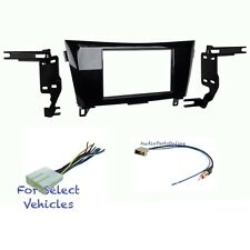 Double Din Car Stereo Radio Dash Kit Combo for some 2014 2015 2016 Nissan Rogue