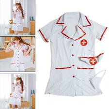 Women's Sexy Nurse Doctor Uniform Lingerie Halloween Cosplay Fancy Dress Costume