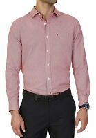 Nautica Men's Wrinkle Resistant Classic Fit Houndstooth LS Dress Shirt
