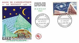 Envelope FDC France Radio Telescope Of Nançay 1963 Nançay