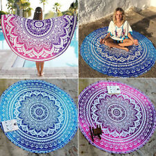 Round Indian Mandala Beach Tapestry Hippie Throw Blanket Bohemian Yoga Mat Cover