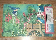 FUßMATTE Garten Vogel Blumen Vögel Teppich Matte Fußabtreter Türvorleger Doormat