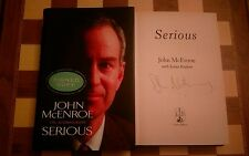 Serious SIGNED John McEnroe Hardback 2002 Autobiography 1st edition 1st printing