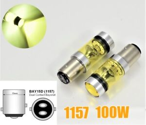 1157 2057 BAY15D P21/5W 100W 3030 High Power LED Amber Front Signal Light B1 #1