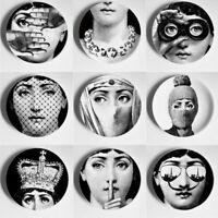 Face Plates Ceramic Crafts Illustration Hanging Dishes Sample Room Decorations