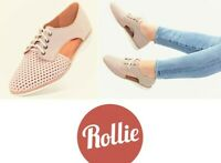 Rollie Nation Shoes comfort leather Derby open casuals Rollie Sidecut Punch