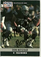 1990 NFL Pro Set DON MOSEBAR Signed Card Lambeau Field RAIDERS usc trojans auto