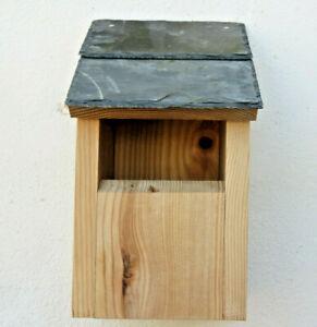 Bird House Nesting Box Welsh Slate roof Open Front Robin Wren