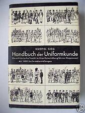Handbuch der Uniformkunde militärische Tracht 1971