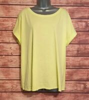 GEORGE Size 22 SUMMER T Shirt Top YELLOW Casual VGC Women's Ladies Holiday
