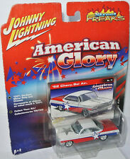 American Glory 1962 CHEVY BEL AIR - white-red/graph. - 1:64 Johnny Lightning
