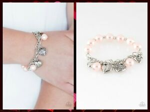 NWT! Paparazzi ~ More Amour ~ Pink Heart Bracelet