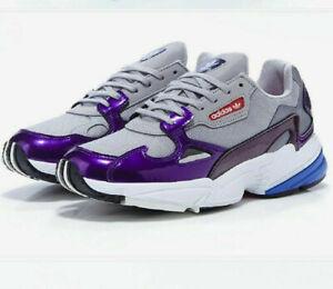 NIB Women's Adidas Originals Falcon W DB2689  Grey/Purple/White shoes Sneakers
