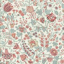 Textiles français Les Fleurs d'Inde Fabric 100% Cotton 140cm wide Pink/Blue