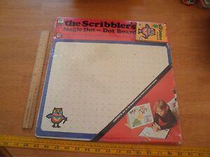 1976 The Scribbler's Magic Drawing Board Dot to Dot sealed MIP Whitman w/crayons