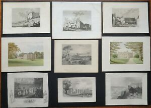 Collection of Genuine Antique Prints / Engravings 1784-1880 – Sold Individually
