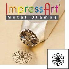 Metal stamp, punch, daffodil, flower, floral, 6mm, metal stamping