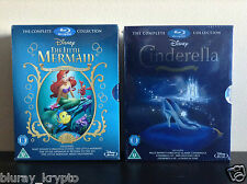 Little Mermaid Trilogy Gift Set  + Cinderella Trilogy collection  (blu-ray)